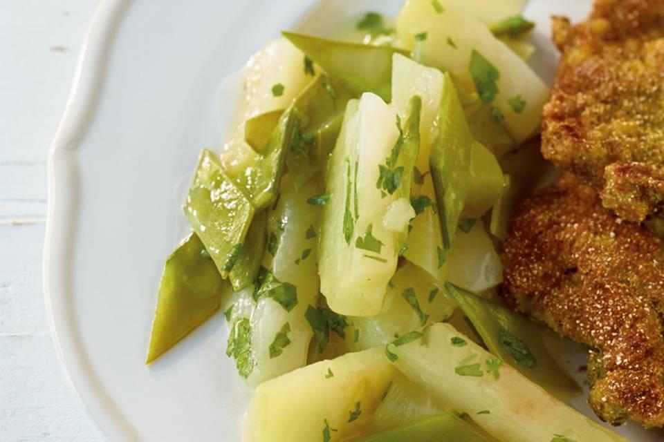 Kohlrabi-Zuckerschoten-Gemüse Rezept