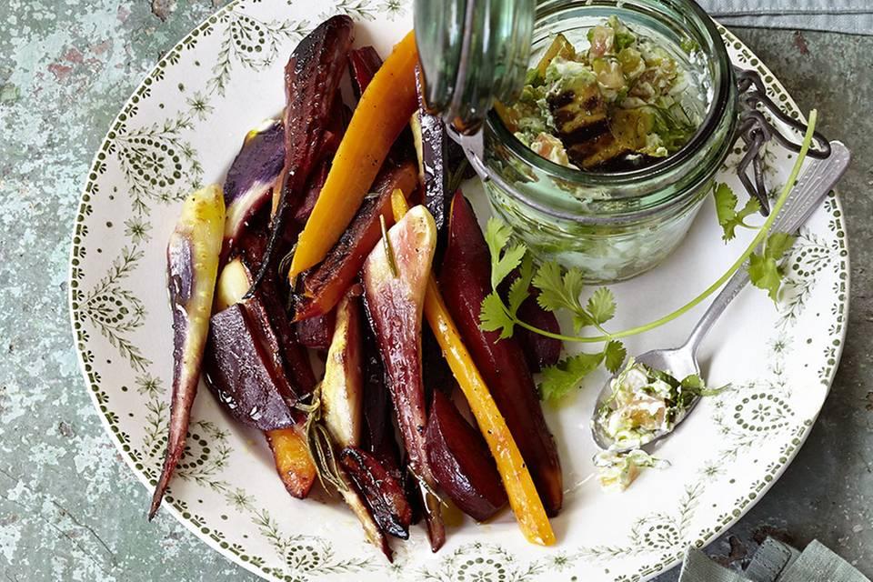 Gegrillte Gemüsepäckchen Rezept