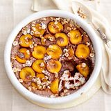 Schokoladen-Aprikosen-Auflauf (Clafoutis)