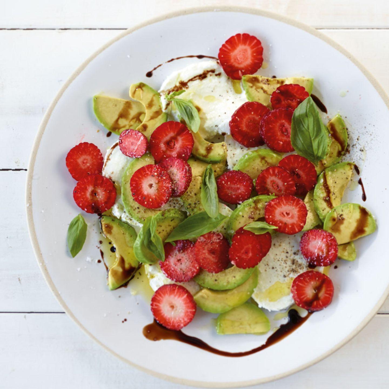 Herzhafte Gerichte mit Erdbeeren
