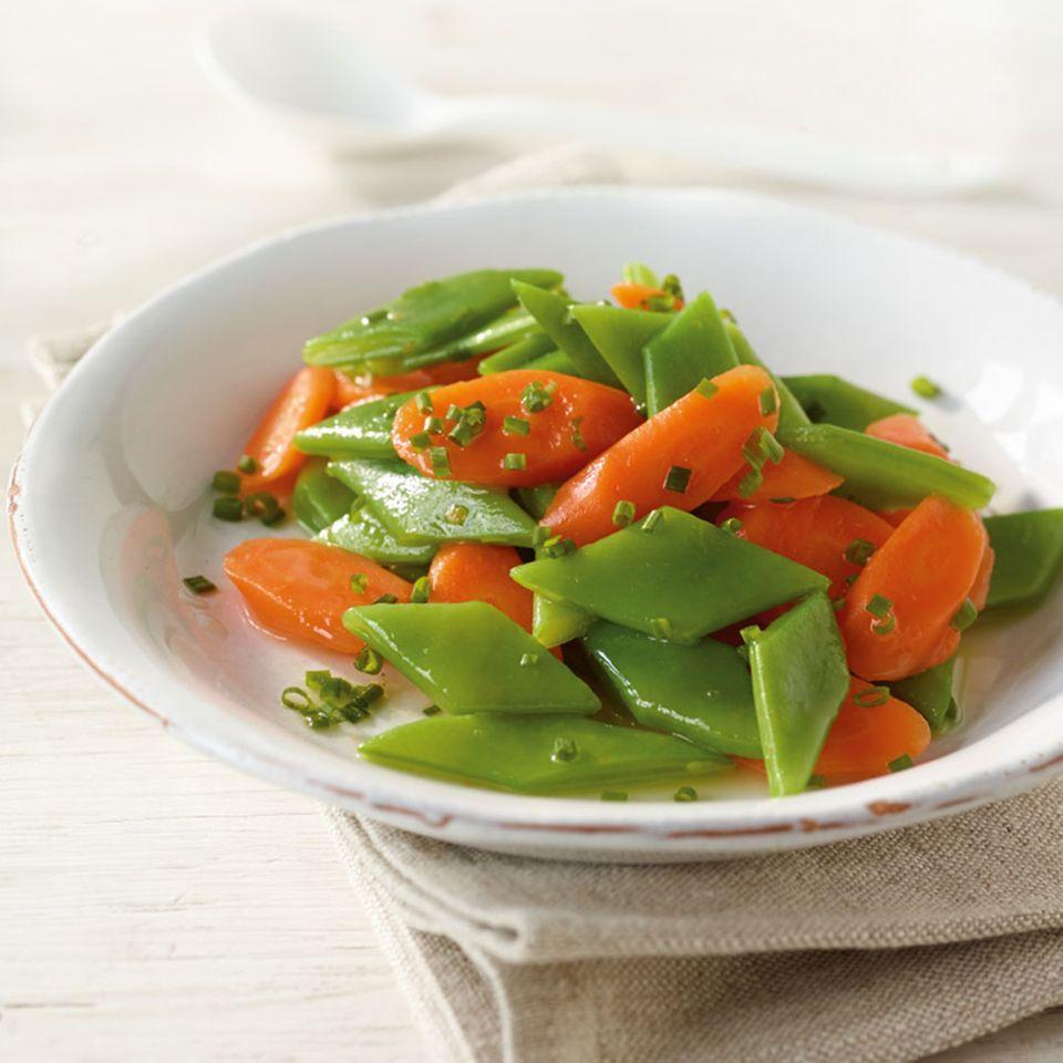 Bohnen-Möhren-Gemüse