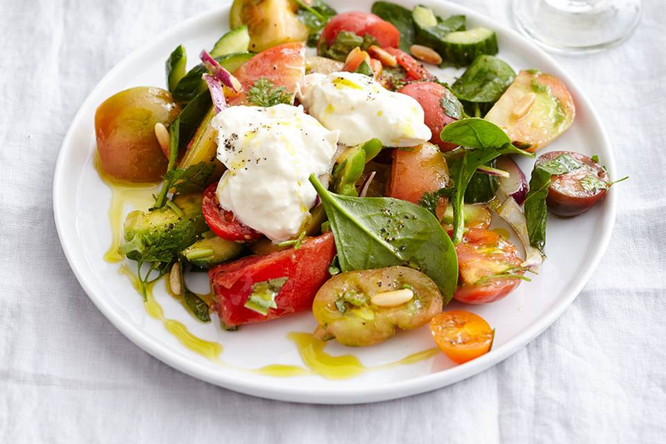 Tomatensalat mit Burrata Rezept