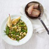 Birnen, Bohnen und Pancetta