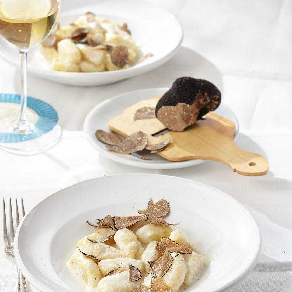 Gnocchi mit Ziegenkäse und Trüffel