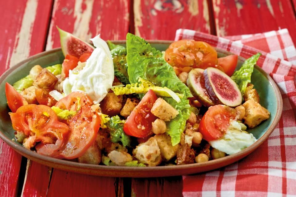 Tomaten-Brot-Salat mit Feigen Rezept