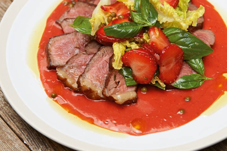 Steak mit Erdbeersauce Rezept