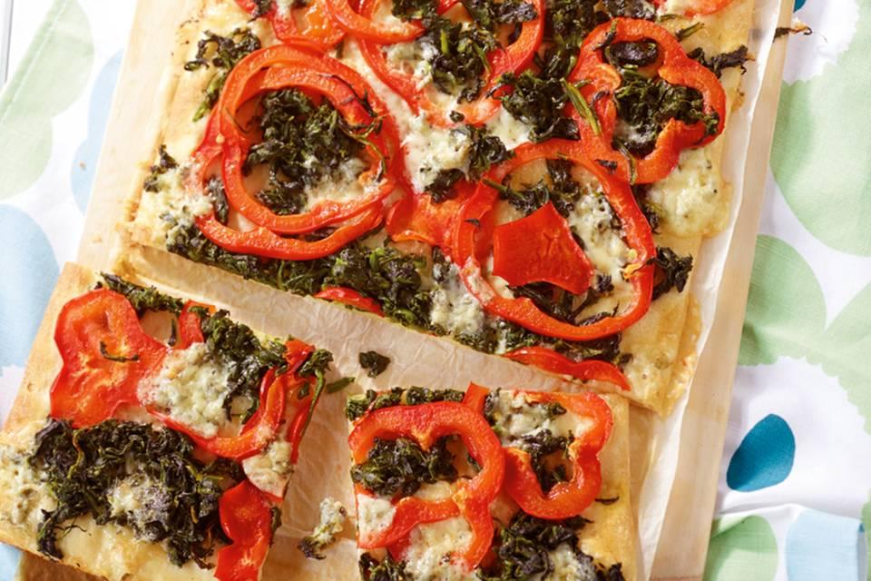 Paprika-Pizza Rezept