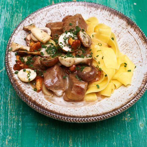 Kalbsgulasch mit Pilzen