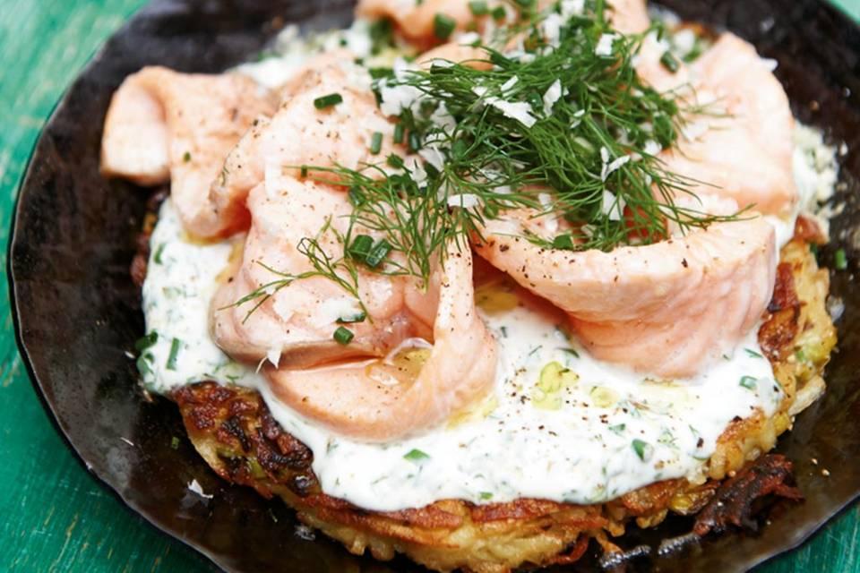 Kartoffelrösti mit Lachs Rezept