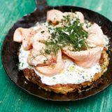 Kartoffelrösti mit Lachs