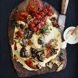 Polenta mit Pilzen und Pancetta