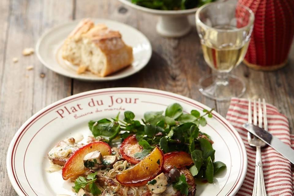 Kalbsschnitzel mit Calvados Rezept