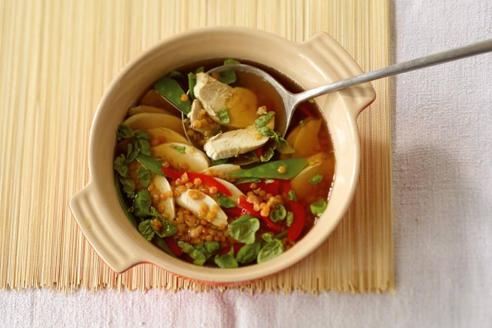 Hähnchen-Linsen-Eintopf Rezept