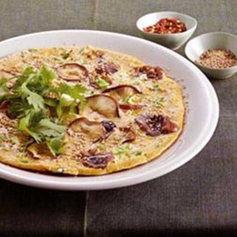 Shiitake-Omelett