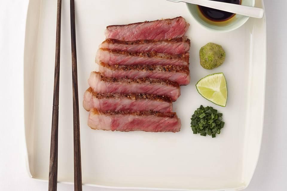 Kobe-Steak mit Soja-Zitrus-Sauce Rezept