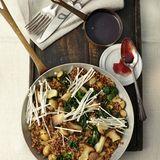 Quinoa-Pilzpfanne mit Rotweinsauce
