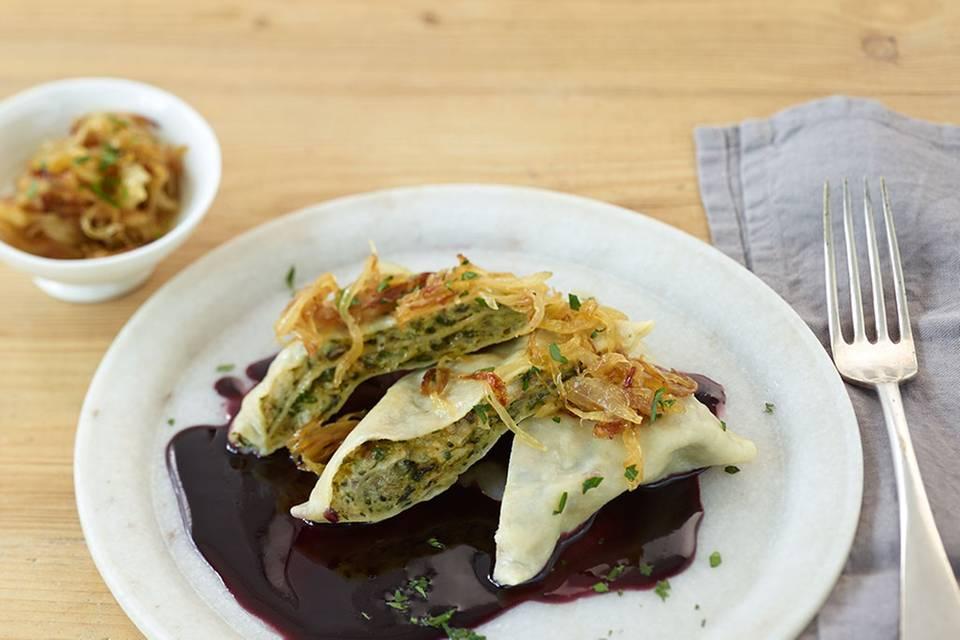 Maultaschen mit Spinat-Pilz-Füllung Rezept