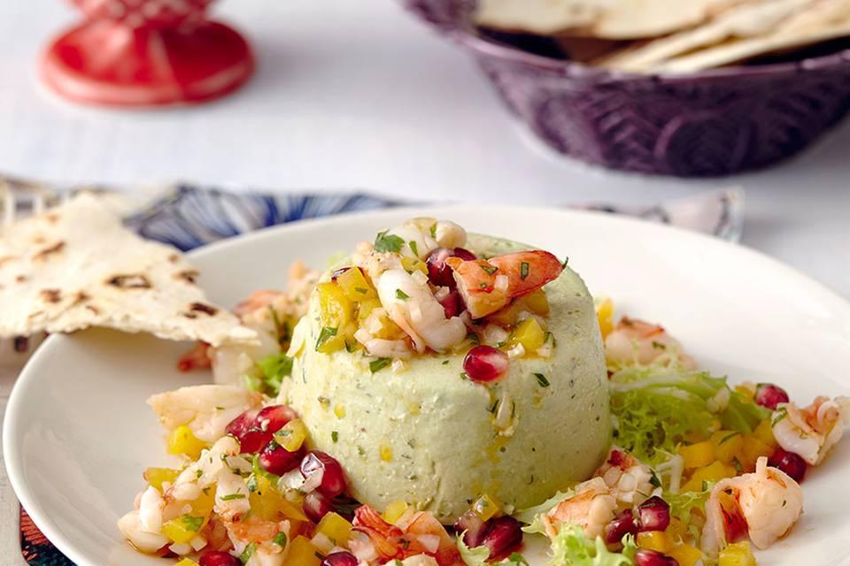 Avocadoterrine mit Garnelen-Salsa Rezept