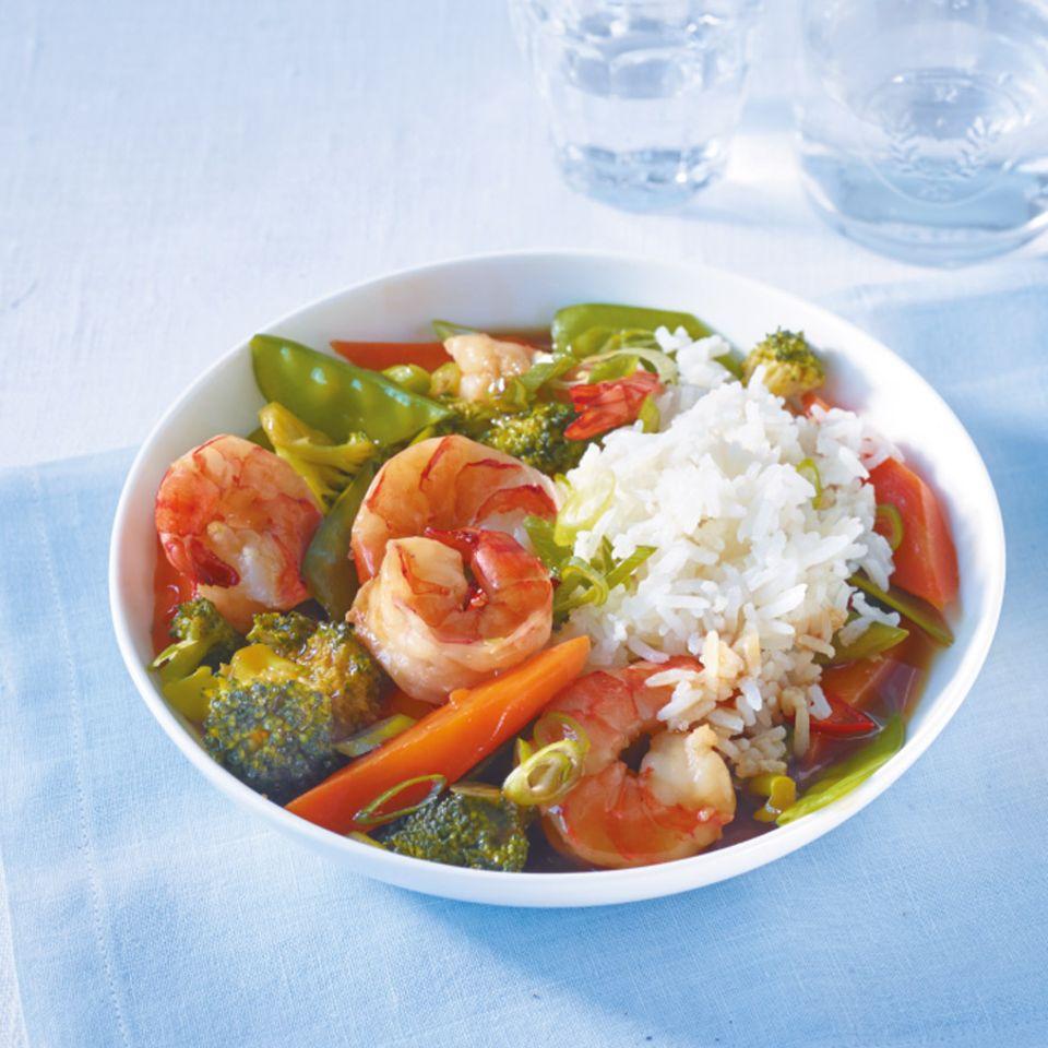 Garnelen-Gemüse-Pfanne