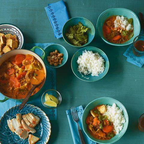 Linsen in Eintöpfen und Currys