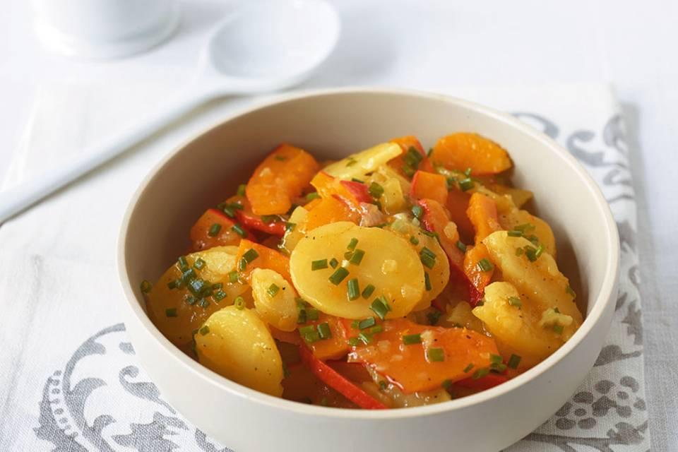 Kürbis-Kartoffel-Salat Rezept