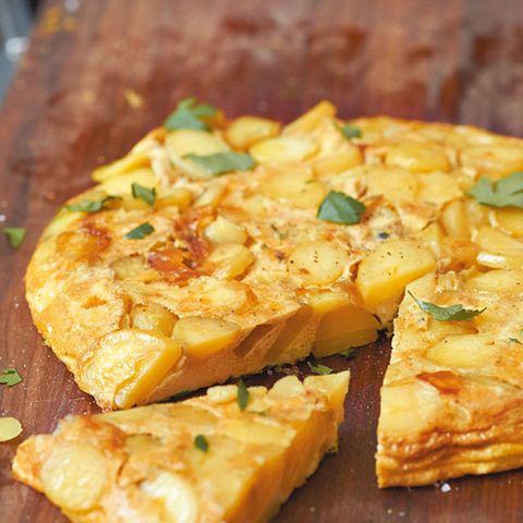 Tortilla mit Petersilie