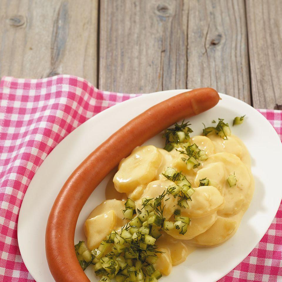 Béchamelkartoffeln mit Gurkenhäckerle