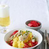 Kartoffel-Meerrettich-Stampf mit geräucherter Forelle