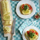 Nudelrolle mit Zucchinifüllung