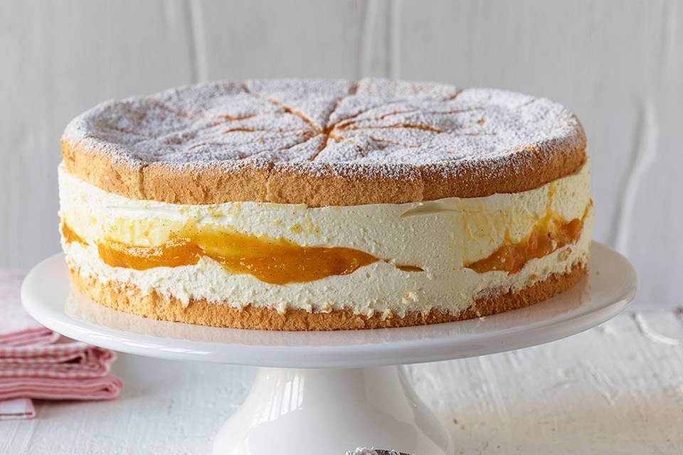 Käse-Sahne-Torte mit Mango Rezept