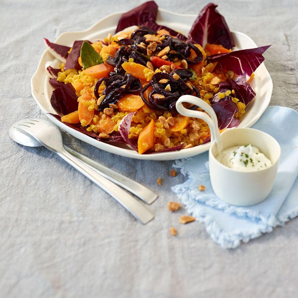 Möhren-Linsen-Salat