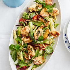 Salat mit Spargel und Kräuter-Vinaigrette
