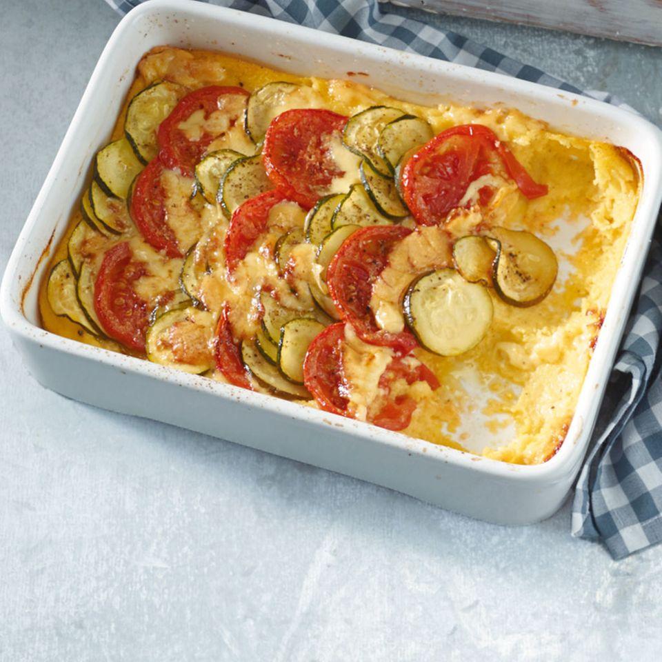 Polenta-Gemüse-Auflauf