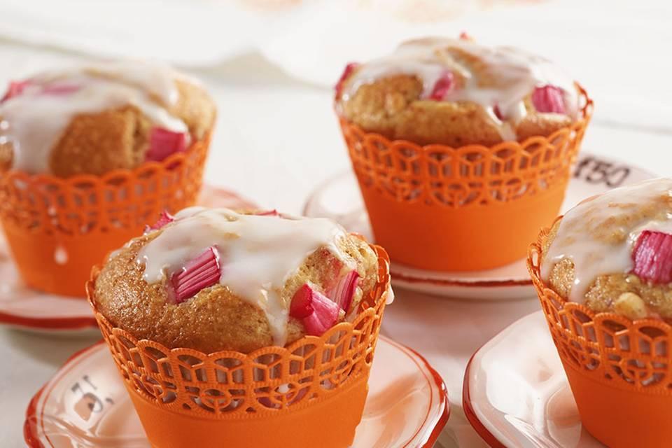 Rhabarber-Bananen-Muffins Rezept