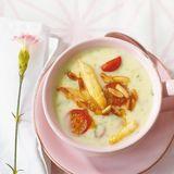 Spargel-Basilikum-Suppe