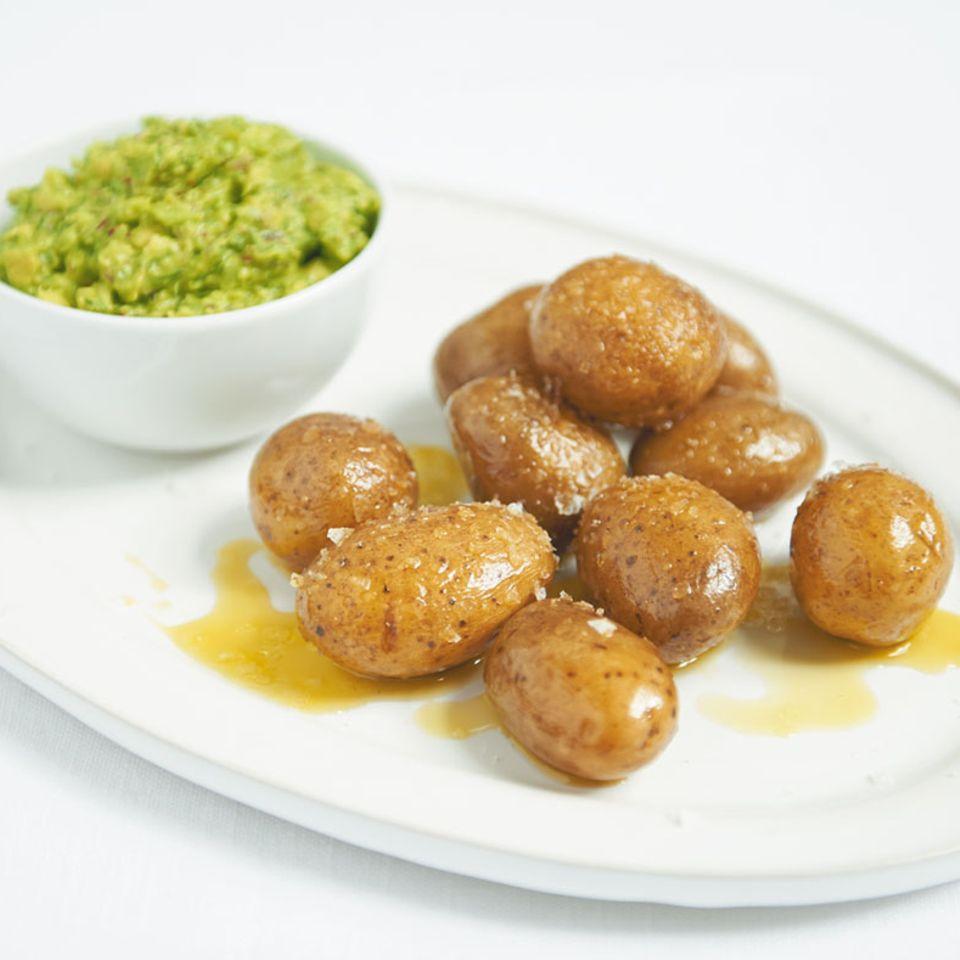 Geräucherte Kartoffeln