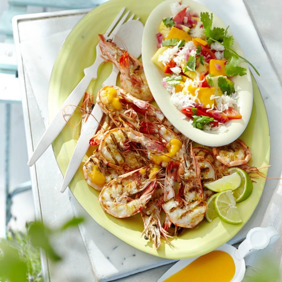 Garnelen mit Papaya-Beurre-blanc Rezept