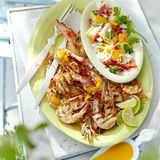 Garnelen mit Papaya-Beurre-blanc