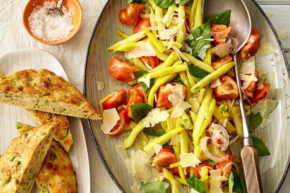 Wachsbohnensalat mit Tomaten Rezept