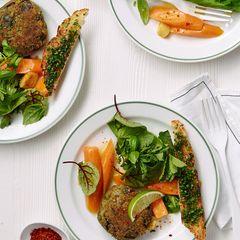 Ampfer-Minz-Salat mit Möhren