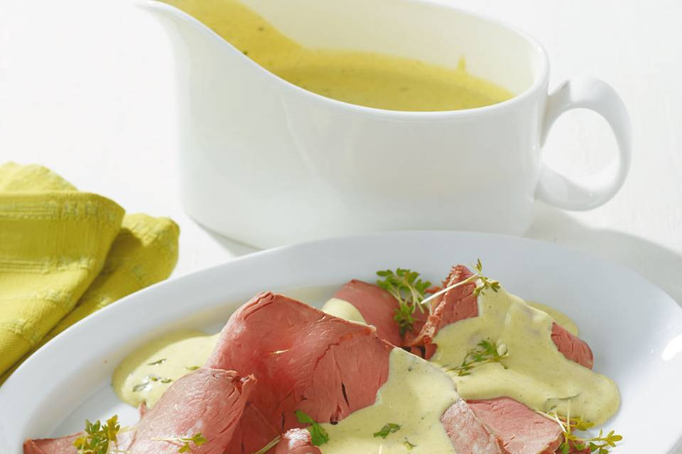 Kräuter-Hollandaise für Roastbeef Rezept