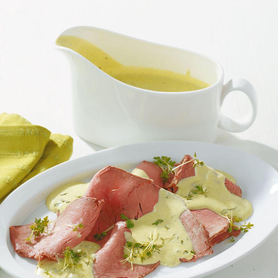 Kräuter-Hollandaise für Roastbeef