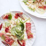 Bohnensalat mit Schinkenpäckchen