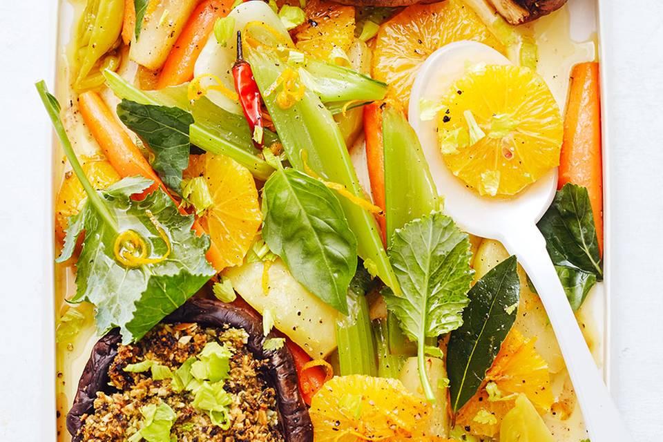 Gemüsesalat mit Portobello  Rezept