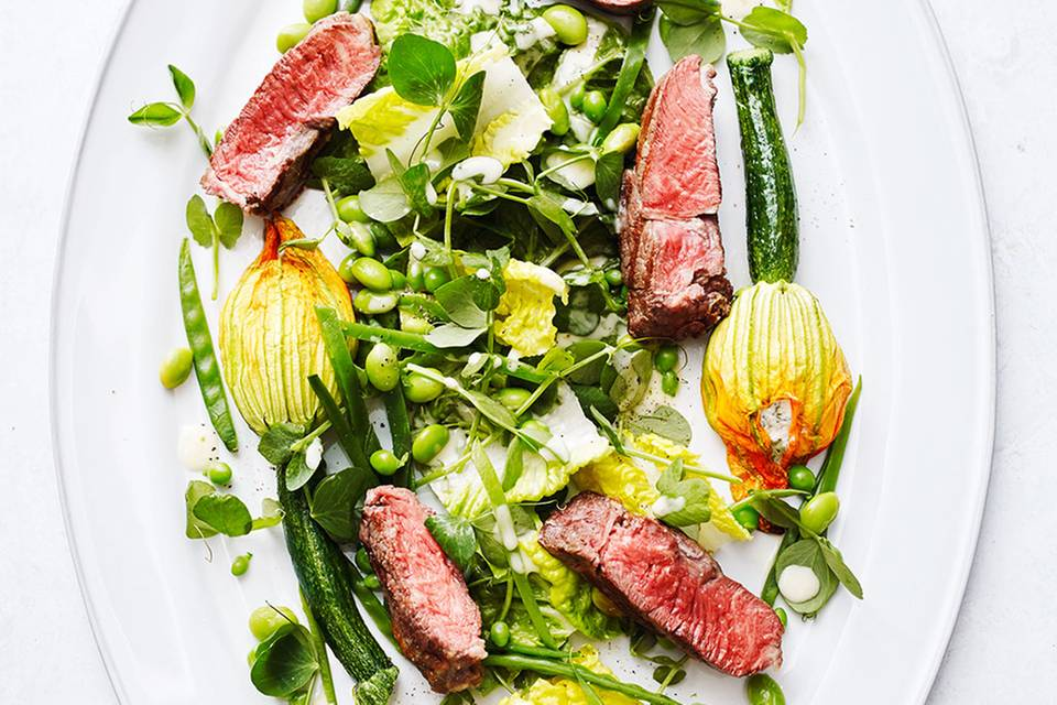 Salat mit Zucchiniblüten Rezept