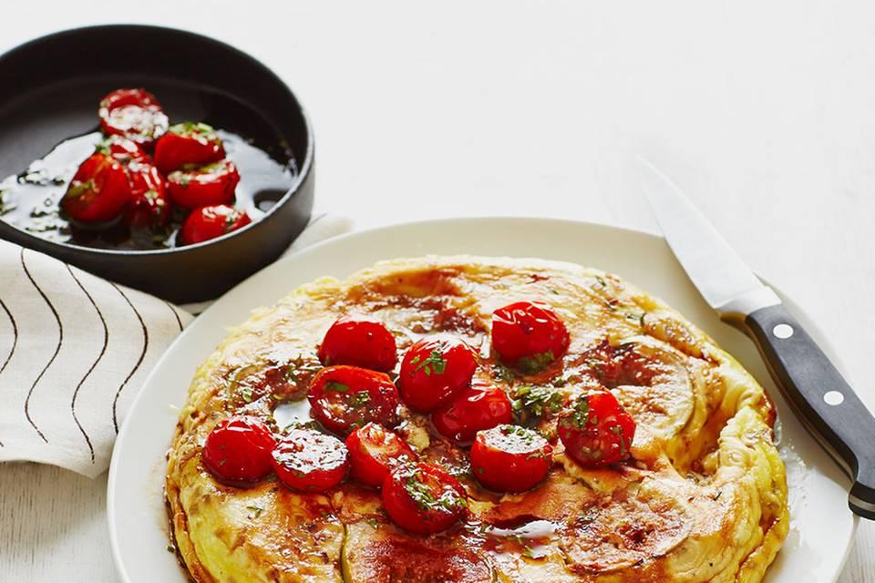 Ziegenkäse-Omelette mit Feigen Rezept