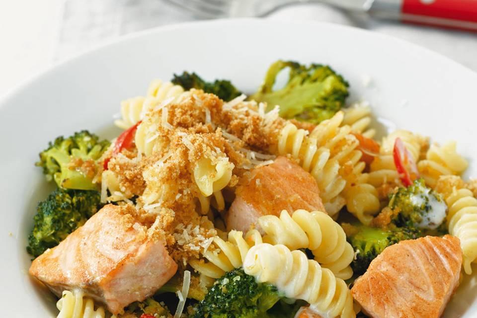 Broccoli-Lachs-Pasta Rezept