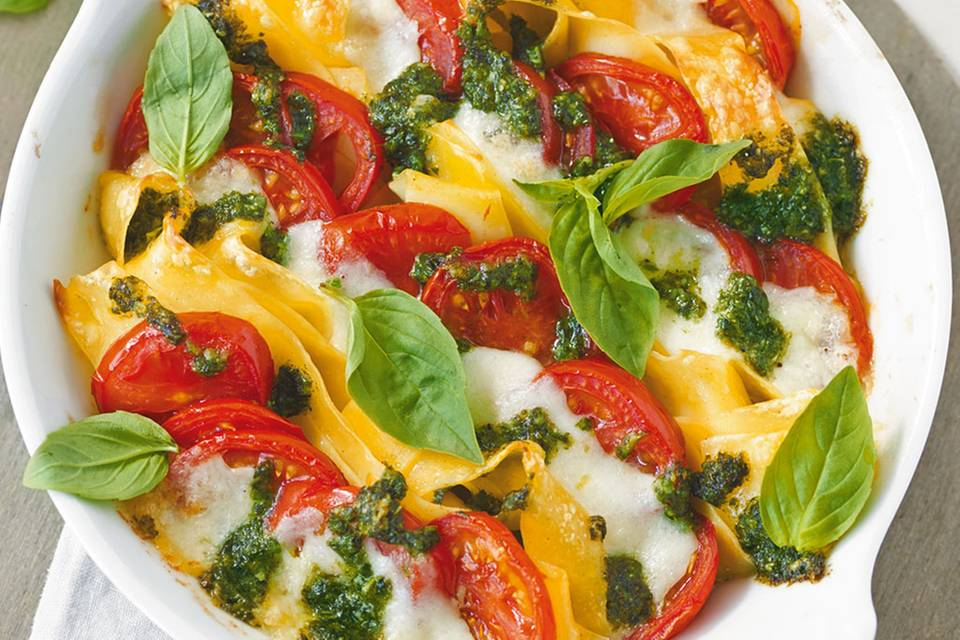 Tomaten-Mozzarella-Gratin Rezept