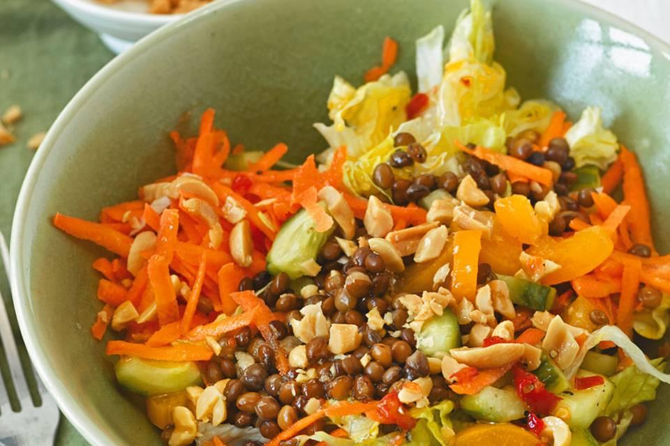 Gemüse-Linsen-Salat Rezept