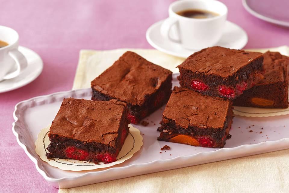 Himbeer-Aprikosen-Brownies Rezept
